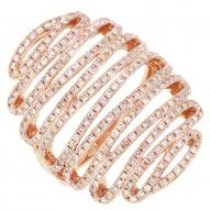 1.21ct 14k Rose Gold Diamond Lady