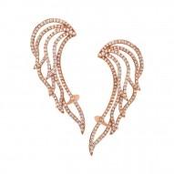 Maddison E 1.61ct 14k Rose Gold Diamond Ear Crawler Earring