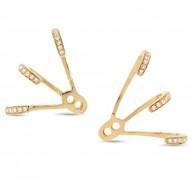 Maddison E 0.15ct 14k Yellow Gold Diamond Ear Jacket Earring
