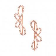 Maddison E 0.34ct 14k Rose Gold Diamond Ribbon Bow Ear Crawler Earring