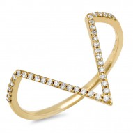 0.11ct 14k Yellow Gold Diamond Lady