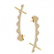 Maddison E 0.45ct 14k Yellow Gold Diamond Ear Crawler Earring