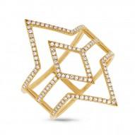 0.31ct 14k Yellow Gold Diamond Lady