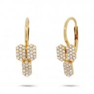 Maddison E 0.25ct 14k Yellow Gold Diamond Bar Earring