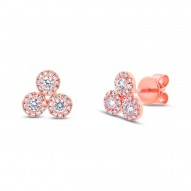 Maddison E 0.46ct 14k Rose Gold Diamond Earring