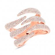 0.86ct 14k Rose Gold Diamond Pave Lady