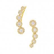 Maddison E 0.66ct 14k Yellow Gold Diamond Ear Crawler Earring