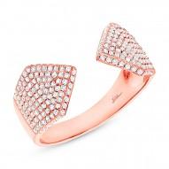 0.55ct 14k Rose Gold Diamond Pave Lady