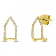 Maddison E 0.15ct 14k Yellow Gold Diamond Earring