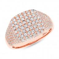 1.32ct 14k Rose Gold Diamond Pave Lady