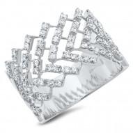 0.72ct 14k White Gold Diamond Lady