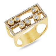 0.48ct 14k Yellow Gold Diamond Slider Lady