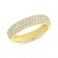 0.78ct 14k Yellow Gold Diamond Pave Lady