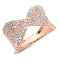 0.99ct 14k Rose Gold Diamond Lady