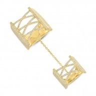 1.75ct 14k Yellow Gold Diamond Pave Lady
