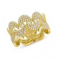 0.39ct 14k Yellow Gold Diamond Pave Lady