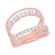 0.89ct 14k Rose Gold Diamond Lady