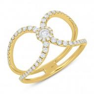 0.51ct 14k Yellow Gold Diamond Lady