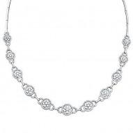 Madison E 5.15ct 14k White Gold Diamond Necklace