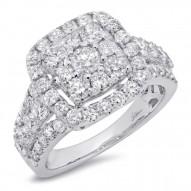Madison E 2.32ct 14k White Gold Diamond Cluster Engagement Ring
