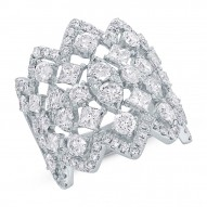 Madison E 3.92ct 14k White Gold Diamond Lady