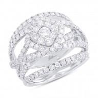 Madison E 2.20ct 14k White Gold Diamond Cluster Lady
