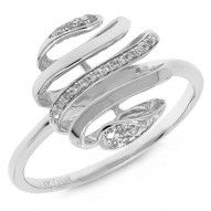 Madison E 0.08ct 14k White Gold Diamond Lady