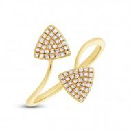 Madison E 0.18ct 14k Yellow Gold Diamond Triangle Lady