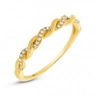 Madison E 0.07ct 14k Yellow Gold Diamond Lady