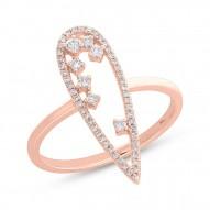 Madison E 0.23ct 14k Rose Gold Diamond Lady