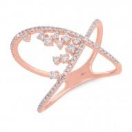 Madison E 0.36ct 14k Rose Gold Diamond Lady