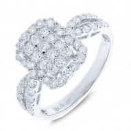 Madison E 1.02ct 18k White Gold Diamond Lady