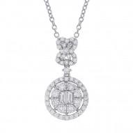 Madison E 1.24ct 18k White Gold Diamond Pendant