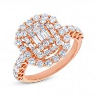 Madison E 1.77ct 18k Rose Gold Diamond Lady