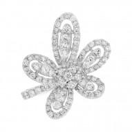 Madison E 1.65ct 18k White Gold Diamond Flower Lady