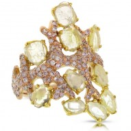 Madison E 2.73ct 18k Rose Gold Fancy Color Diamond Ring