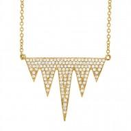 Madison E 0.44ct 14k Yellow Gold Diamond Pave Necklace