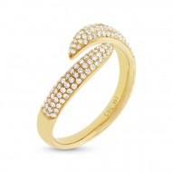 Madison E 0.43ct 14k Yellow Gold Diamond Pave Lady