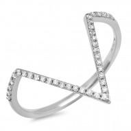Madison E 0.11ct 14k White Gold Diamond Lady
