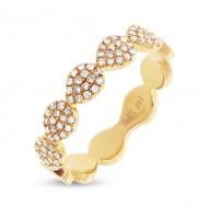 Madison E 0.25ct 14k Yellow Gold Diamond Pave Lady