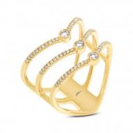 Madison E 0.30ct 14k Yellow Gold Diamond Lady
