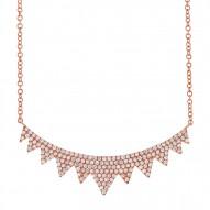 Madison E 0.45ct 14k Rose Gold Diamond Necklace