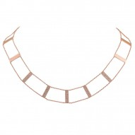 Madison E 0.71ct 14k Rose Gold Diamond Ladder Necklace