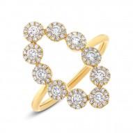 Madison E 0.72ct 14k Yellow Gold Diamond Lady