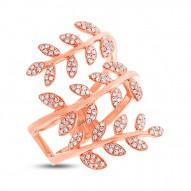 Madison E 0.34ct 14k Rose Gold Diamond Leaf Ring