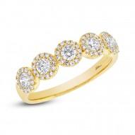 Madison E 0.57ct 14k Yellow Gold Diamond Lady