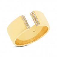 Madison E 0.10ct 14k Yellow Gold Diamond Lady
