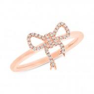 Madison E 0.11ct 14k Rose Gold Diamond Bow Lady