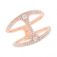 Madison E 0.54ct 14k Rose Gold Diamond Lady