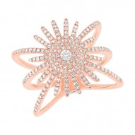 Madison E 0.58ct 14k Rose Gold Diamond Lady